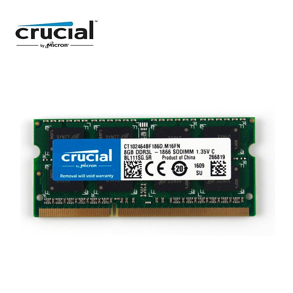 Crucial Memory RAM DDR3 8G 1866MHZ PC3L-14900 CL13 204pin 1.35V Laptop Memory SODIMM цена и фото