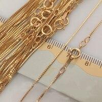 0.85มิลลิเมตร14พันทองยื่นโซ่สร้อยคอที่มีคุณภาพสูงสำหรับผู้หญิงของขวัญ16/18 Inch