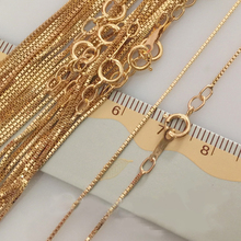 0.85MM 14K Gold ยื่นสร้อยคอคุณภาพสูงสำหรับของขวัญผู้หญิง 16/18 นิ้วเครื่องประดับทำอุปกรณ์