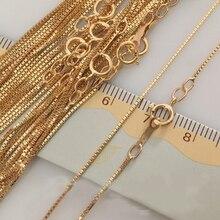0.85mm 14 k 골드 출원 체인 목걸이 여성을위한 고품질 선물 16/18 inch 쥬얼리 액세서리 만들기