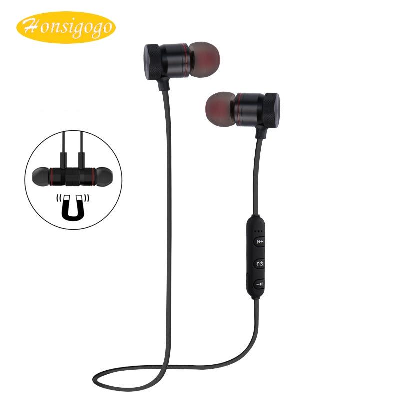 Honsigogo Magnet Bluetooth Earphone Sport Wireless Bluetooth Sweatproof with HD Mic Handsfree CVC6.0 Noise Cancelling Music wireless bluetooth sport earphone noise cancelling sweatproof earbuds magnetic earphones