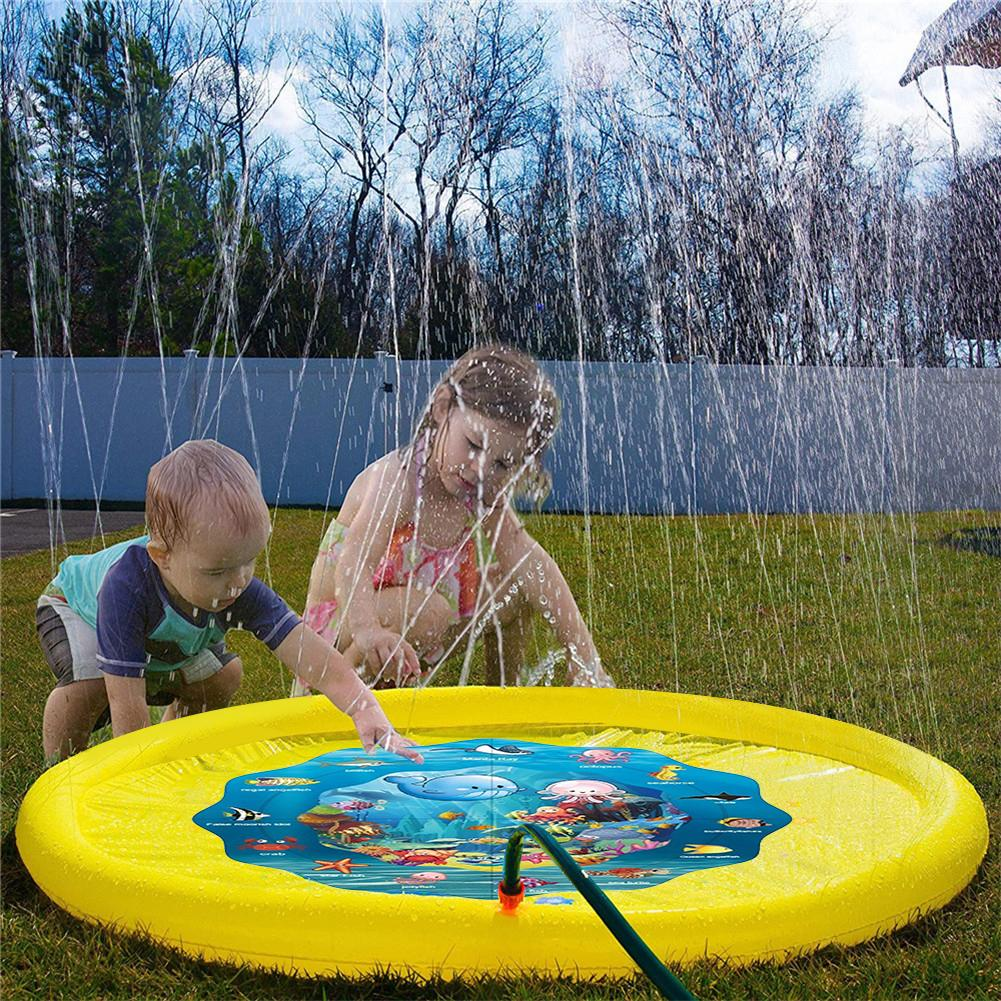 bath toys Swiming Pool Children 39 s Baby Play Water Mat Games Beach Pad Lawn Inflatable Spray Water Cushion Toys Outdoor in Bath Toy from Toys amp Hobbies