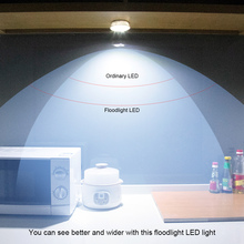 6PCS N005 Wireless LED Intelligent Cabinet Light With Remote Control Round Night Light 3 AA Battery Operated For Cabinets Lamp