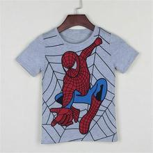 Boys popular cartoon hero cotton short-sleeved t-shirt
