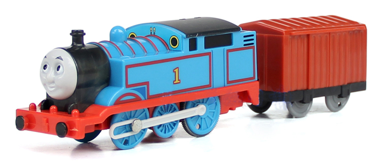 Children Toy Electric Thomas Friend Trackmaster Engine Motorized Train Locomotive Plastic Gift - NO.1+Red boxcar Jack's Store 536762 store