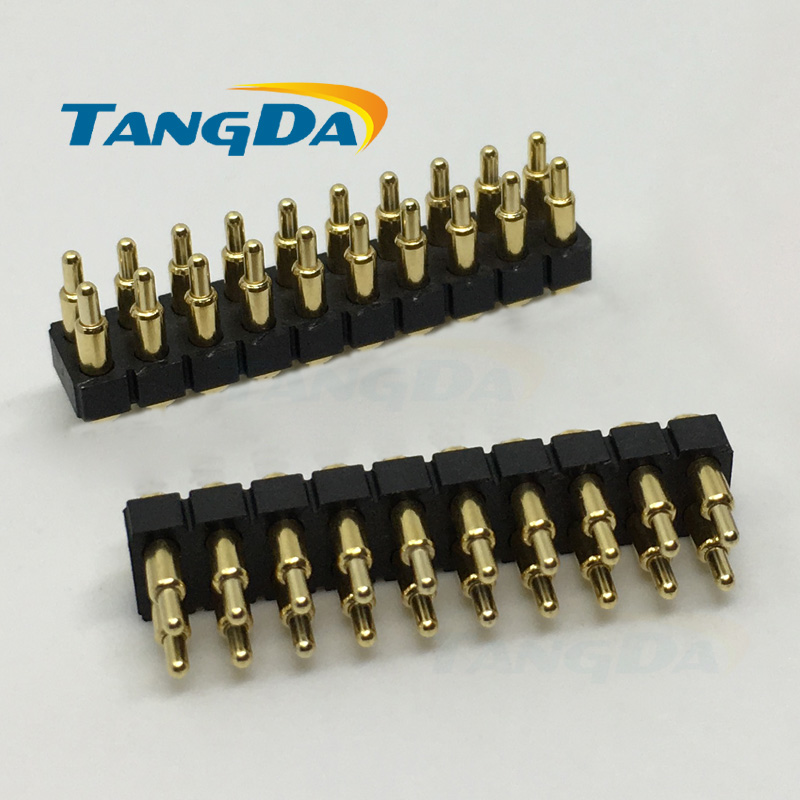 SMD 2*7mm pogo pin Connectors 20p 20pin Current pin Battery pin Test thimble probe Gold Plated spring probe Surface Mount A.