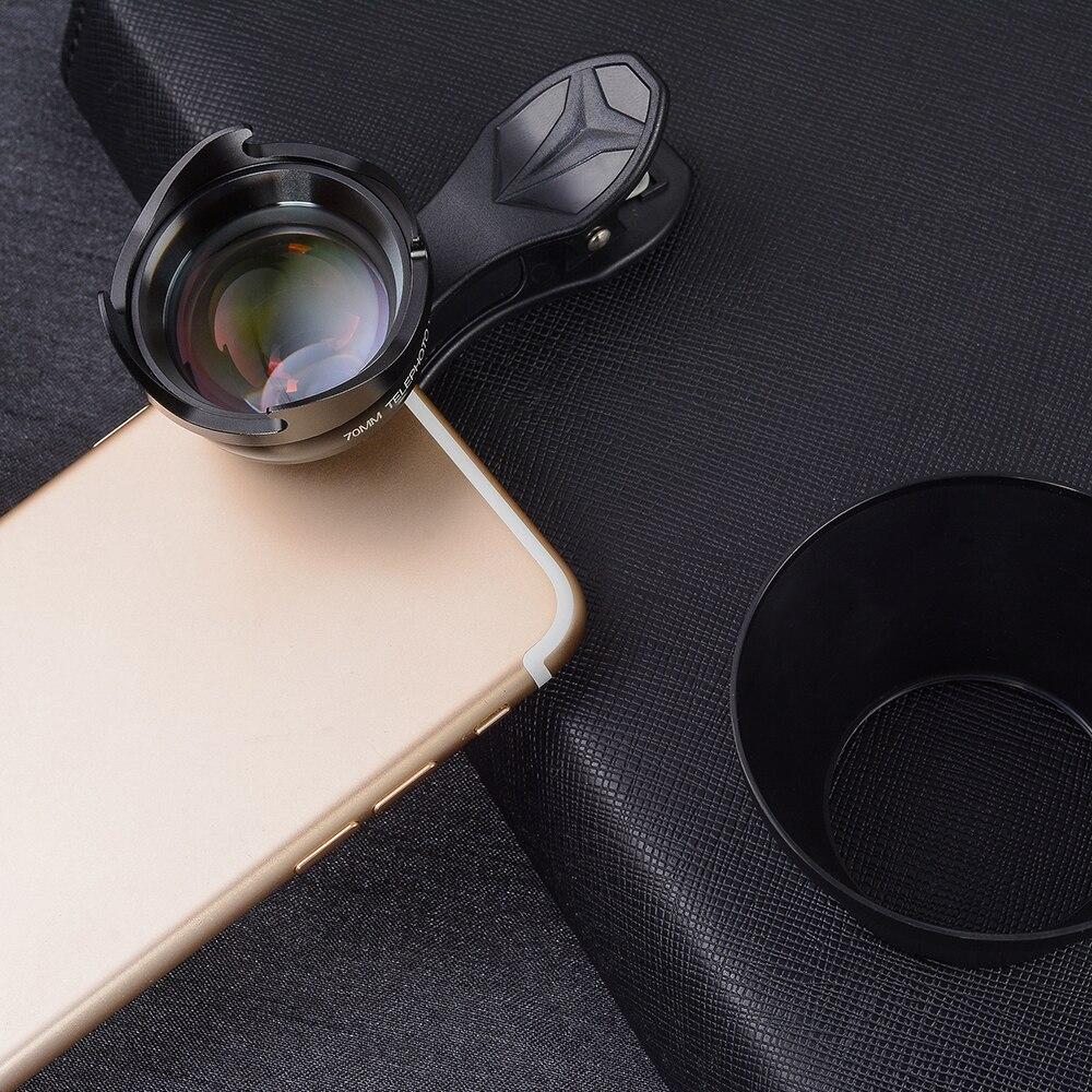 bilder für APEXEL Professionelle 70mm Porträt objektiv HD SLR 2.5X Tele Teles Kamera Telefon Objektiv 2.5X SO Nah für iPhone android Smartphone