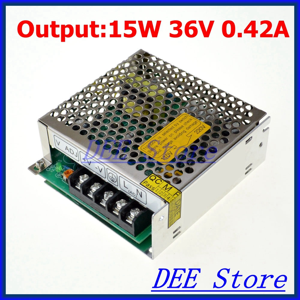 leds-mall LED-15 Led driver 15W 36V 0.42A Single Output  Adjustable Switching power supply  for LED Strip light  AC-DC Converter