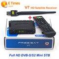 FTA receptor freesat v7 + 1 pc wifi usb sintonizador DVB S2 suppprt não apoio cccam newcamd europa iks sks dvb-s2 hd receptor de satélite