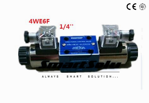 Free shipping Rc 1/4 4WE6F double-end operated directional control rexroth solenoid valve DC 24V , New in Box coffee cjh34h100s dc 24v directional motor 1001 dj27