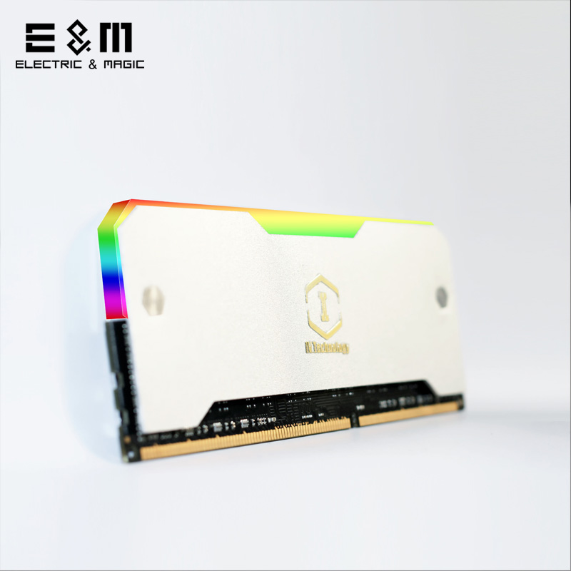 Active Components Integrated Circuits Universal Rgb Ram Led Armor Shell Memory Glowing Heatsink For Computer Cooling Vest Fin Heat Sink Controller For Ddr3 Ddr4