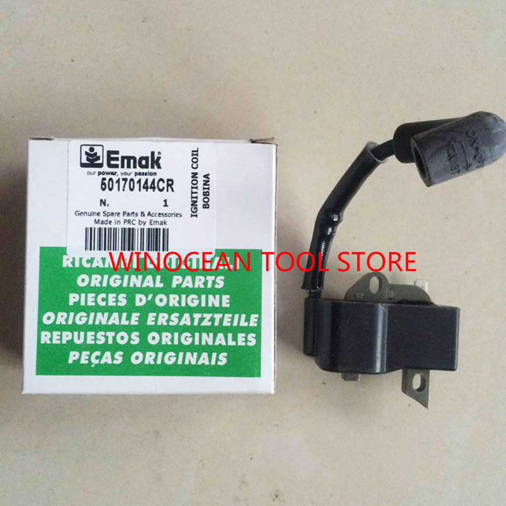 GENUINE IGNITION COIL FITS OLEO MAC 937/941c CHAINSAW SPARE PARTS 50170144CR OLEO-MAC genuine ignition coil fits oleo mac brushcutter om43 om36 om44 om37 om38 trimmer ignitor lead magneto emak 61250015br