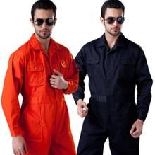 Men Workshop Uniforms Summer Spring Long Sleeve Workwear Uniform Food Clothing Warehouse Produce Siamese Overalls 2 colors