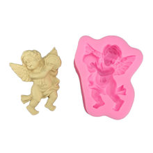Angel Drums Fondant Molds Aromatherapy Gypsum Silicone Soap Mold DIY Cake Decorating Chocolate Candy Cookie Mould Baking Tools(China)