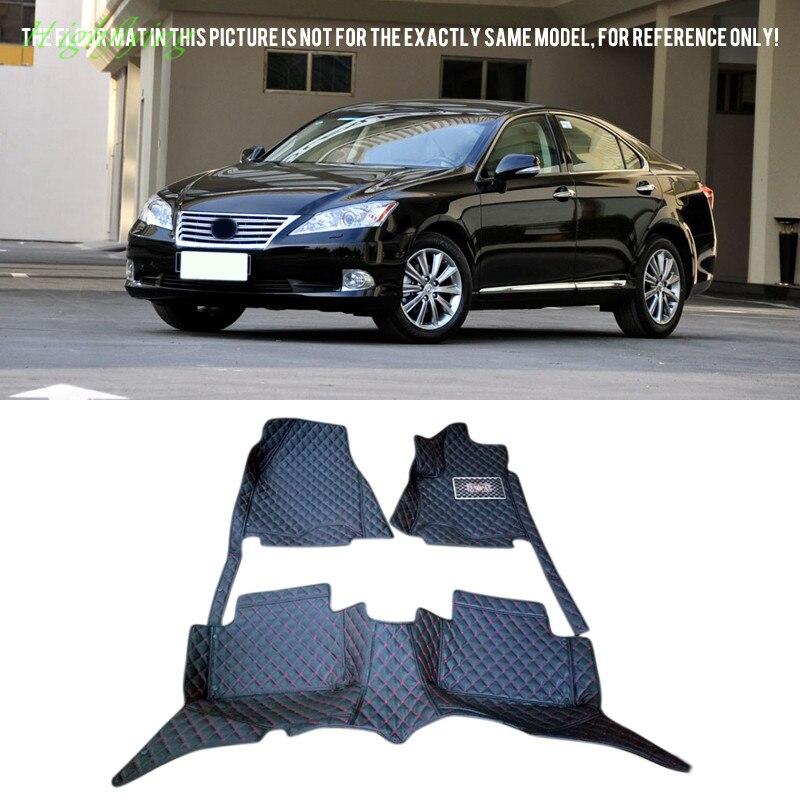 Inner Accessories Front&rear Floor Mats Carpets Foot Pads Covers Kit For Lexus ES240/350 (XV40) 2007-2012 inner floor mats