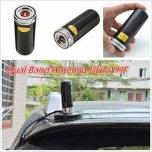 Черный двухдиапазонный VHF UHF 400-470Mhz& 136-174MHZ Автомобильная шина Мобильная радиоантенна