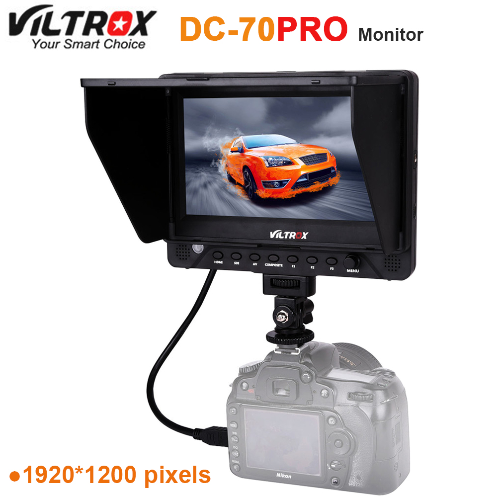 Viltrox DC-70PRO 4K 7'' Camera Video Monitor Display IPS HD SDI/HDMI/AV 1920x1200 Pixels for Canon Nikon Sony DSLR BMPCC