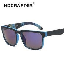 HDCRAFTER Square Sunglasses Men UV400 Brand Designer Female Male Retro Sun Mirror Glasses for Sports Oculos De Sol