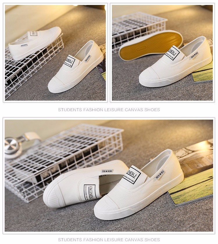 KUYUPP Brand New Woman White Shoes 2016 Summer Casual Flat Slip On Canvas Shoes Round Toe Women\'s Flats Big Size 35-40 PX107 (15)