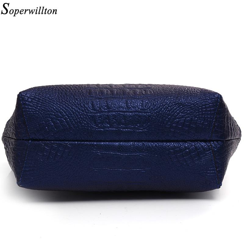 Soperwillton Brand Alligator Women Top-Handle Bags Fashion Lady Crossbody Bag Blue Handbag Set PU Composite Bag Female #1128