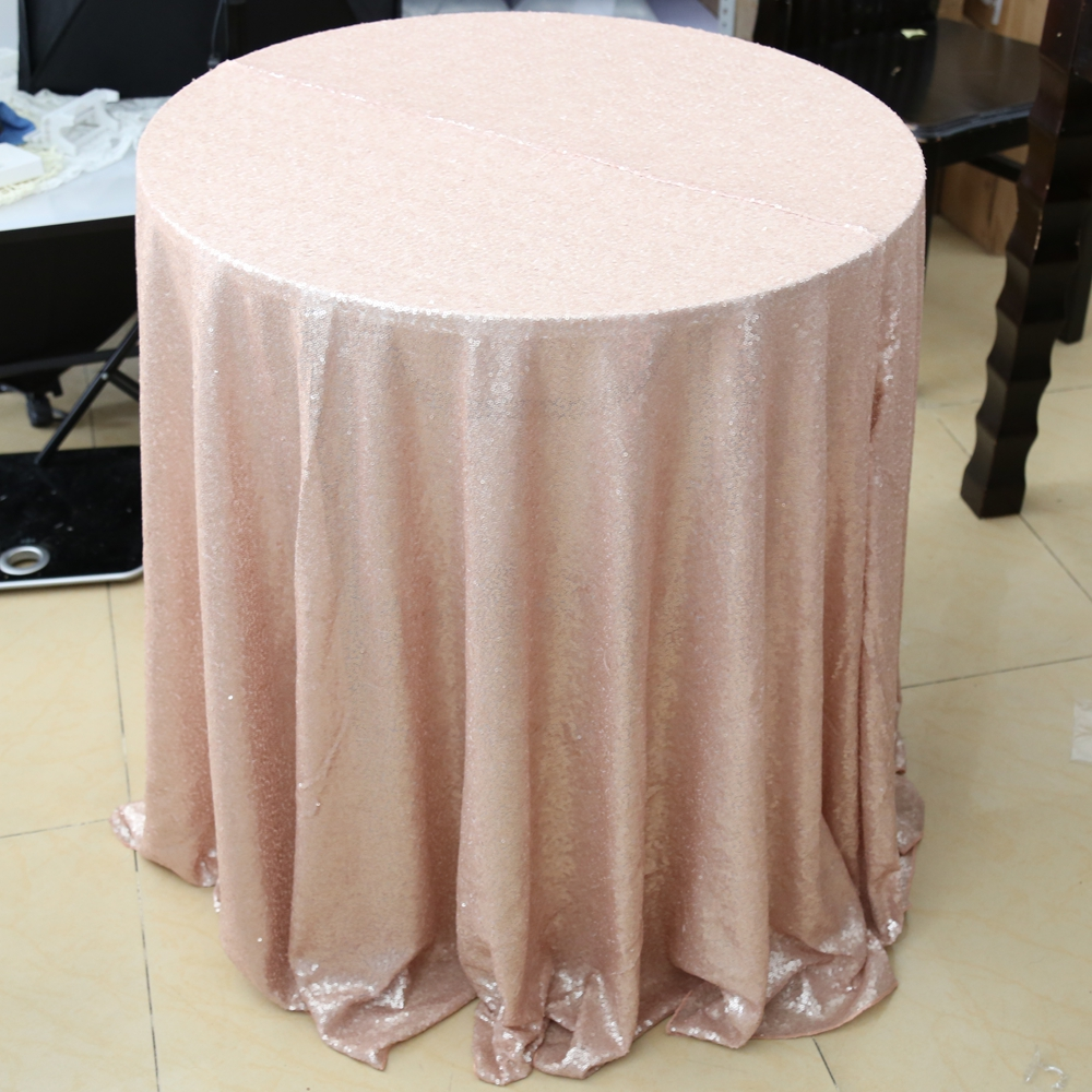 Wedding tablecloth glitter champagne sequin tablecloth 72inches round