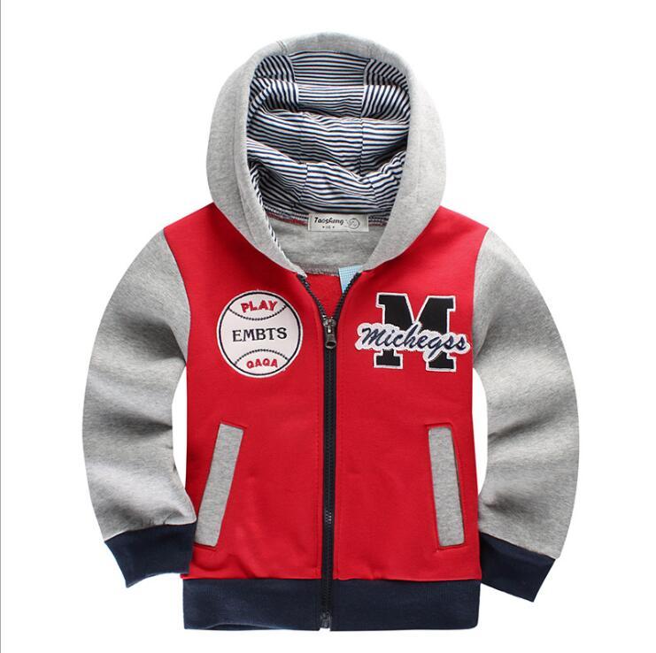 Для маленьких мальчиков Детский толстый слой топы толстовки куртки свитер верхняя одежда; пуловер 2-7Years Повседневное Детская куртка верхня...