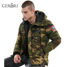 Gersri New Brand Men Winter Thermal Parka Military Tactical Warm Down Cotton Padded Hooded Jacket Waterproof Male Outwear