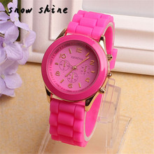 snowshine 30xin Unisex Silicone Rubber Quartz Analog Sports Women Wrist Watch Blue free shipping