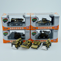 Alloy Military Series Tank Armored Vehicle Model Pull Back Mini Kid Toy Cars Gift 4 Styles