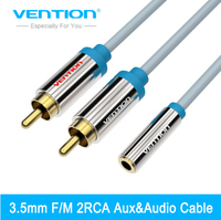 Vention 2 RCA Male To 3 5 MM Female Audio Cable 1m 1 5m 3m Adaptor