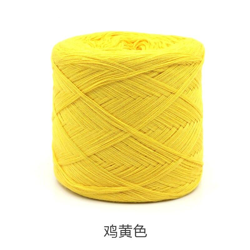 250 г/шт., белая, небеленая, оригинальная, Экологичная, здоровая, хлопковая, вязаная пряжа, детская, натуральная, мягкая, пряжа для вязания крючком - Цвет: chicken yellow