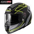 Ff397 rosto cheio capacete ls2 capacete da motocicleta capacete de corrida moto capacete cruz cascos de motociclistas com dual lens