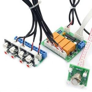 Image 5 - Lusya DIY kits Relais 4 weg Audio Ingang Signaal Selector Switching RCA Audio Switch Ingang Selectie Board B7 004
