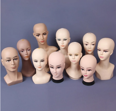Fashionable Different Style Plastic Head Mannequin Male&Female Mannequin Head On Sale mannequin