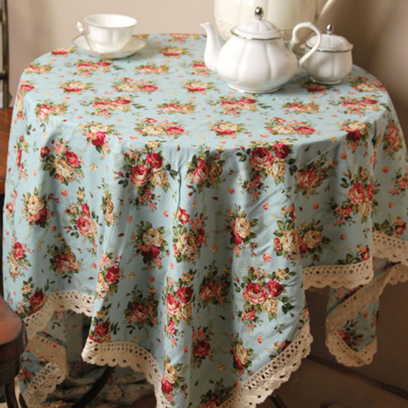 High Quality Car Printed Cotton Linen Blackout Curtain: Pastoral Floral Printed Table Cloth High Quality Cotton
