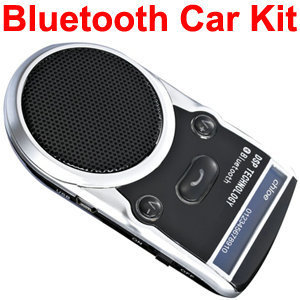 Solar Powered Bluetooth Car Kit blue tooth Handsfree FM+MP3 Player,LCD display Built-in speaker