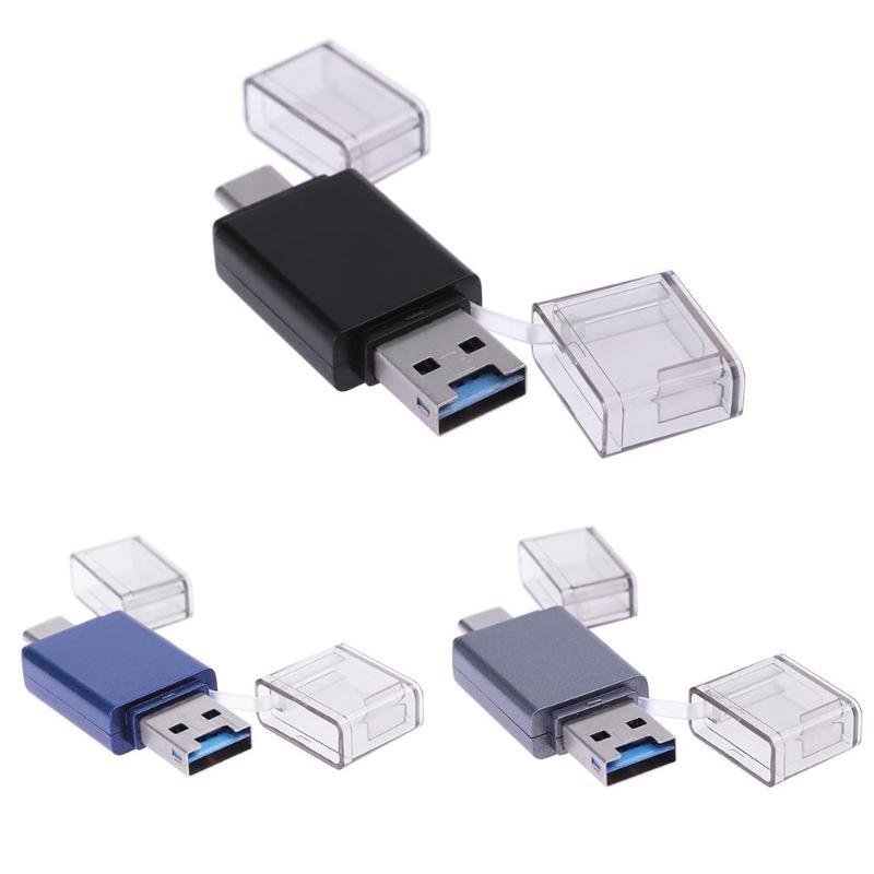 USB 3.0 + Тип-C чтения карт памяти адаптера OTG телефон Планшетные ПК адаптер Портативный multi Функция Карт-ридеры Поддержка для карты памяти ...