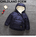 2017 Crianças Parka Casacos de Inverno Frio Para Baixo Meninos Sólidos Enchimento de Algodão Grosso Quente Com Capuz Crianças Jaqueta de Inverno Para Meninas Outerwear