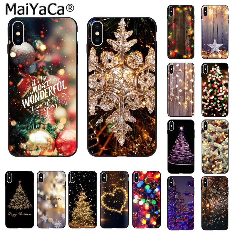 Tireless Maiyaca Marry Christmas Holiday Tree New Year Novelty Fundas Phone Case Cover For Iphone 5 5sx 6 7 7plus 8 8plus X Xs Max Xr Half-wrapped Case Phone Bags & Cases