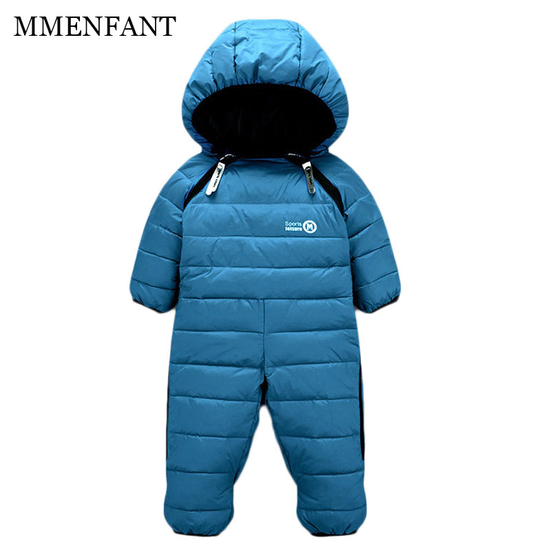 Russia Winter baby infantil girls boys down thick rompers children wadded jacket kids White duck down jumpsuits newborn overalls girls thick duck down russia winter jacket children coats warm 100% thick duck down new children s winter feather jacket 30