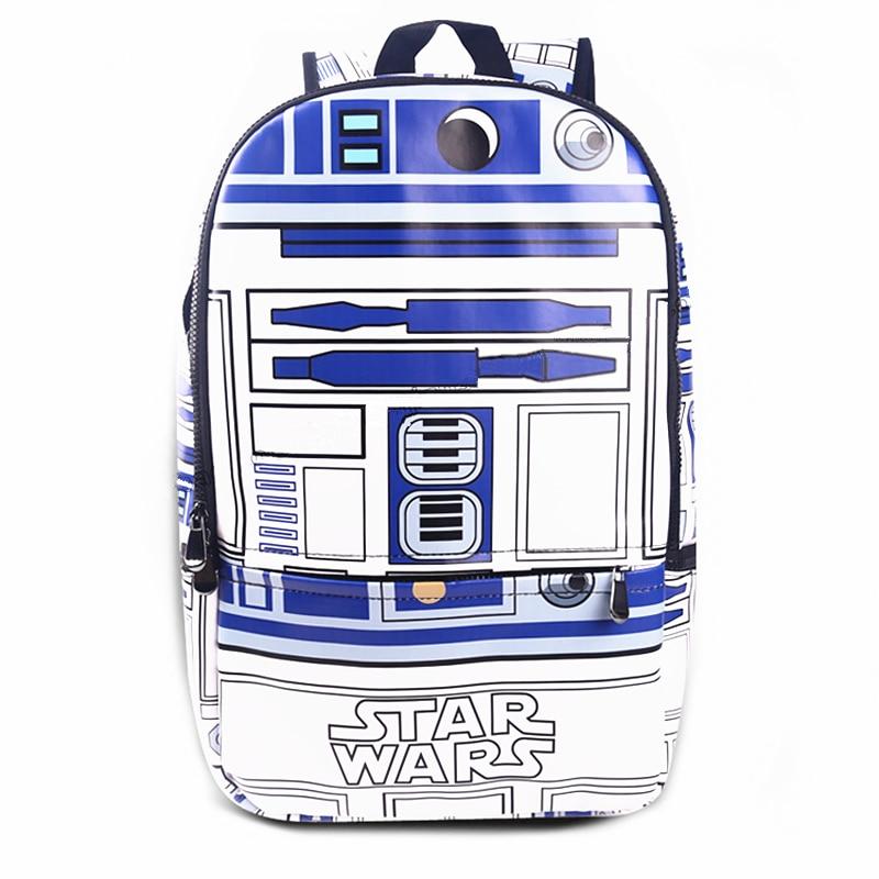 Star Wars R2 D2 BB-8 Backpacks Bolsa School Bags Backpack Mochila Masculina Bagpack Men Travel  Bag Packsack диск пластиковый star fit bb 20 d 26 мм черный 1кг
