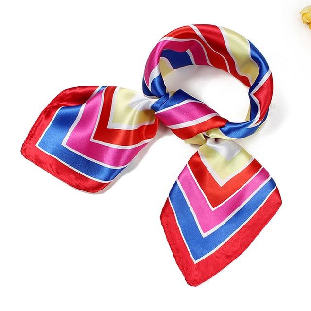 À la mode Femmes foulards de soie écharpe Foulard De Luxe Écharpe Foulard  60 CM musulman 7f45d127c5e