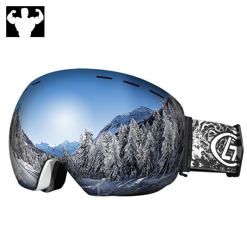 New ski goggles double lens mountaineering glasses anti-fog mens and womens snowmobile