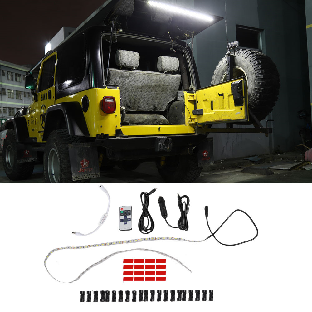 Car Tailgate Glass Lift Door Light Led Lamp For Jeep Wrangler TJ 1997-2006 JK JL Rear Tail Trunk Light Car Accessories