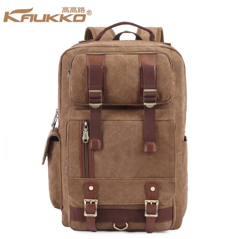 FS261 England Style Men and Women Shoulder Bag Large Capacity Bag Canvas Travel Bag Man Business Computer Bag Backpack Kaukko подставка для телевизора holder pr 106 черный 26 70 напольный наклон