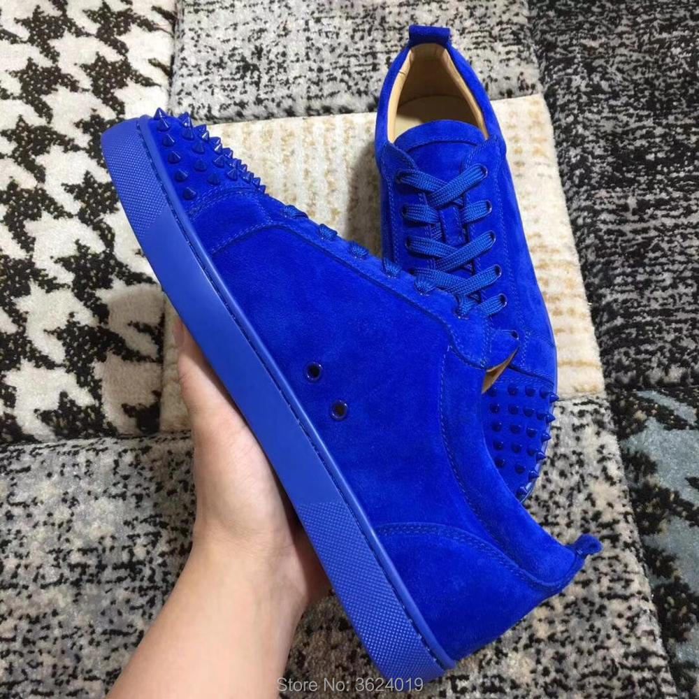 Luxe Rivet Cut Cuir Chaussures Hommes Cl En up Mocassins Occasionnels De Rouge Bleu Dentelle Andgz Homme Sneakers Bas Pour Low oxQCBWEred