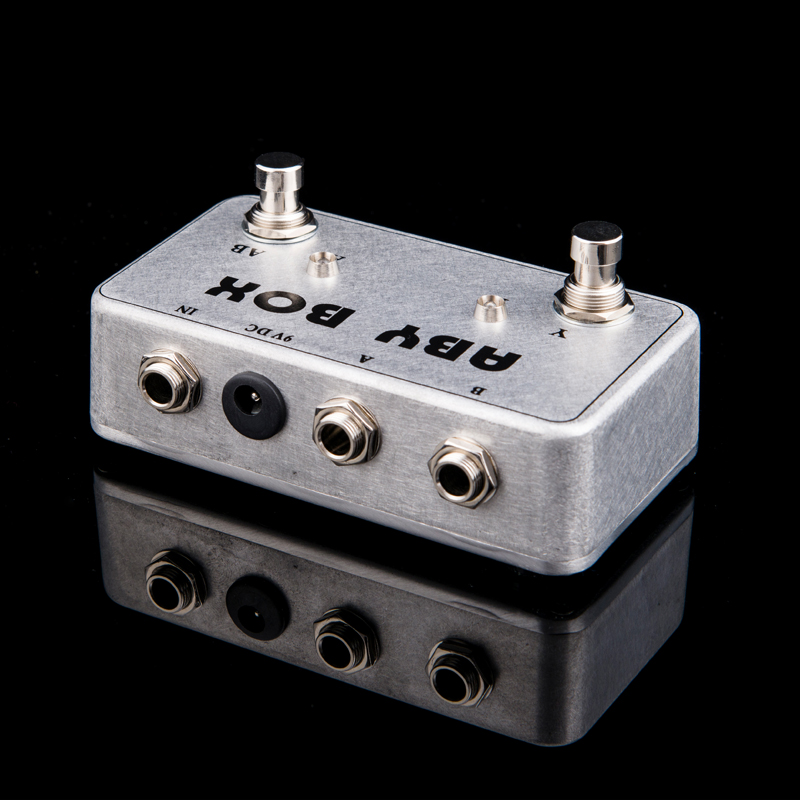 Hand Made Aby Selector Combine Pedal Guitar Switch Box   True Bypass  Amp    Guitarra Pedal Ab  Y