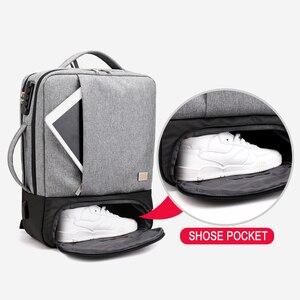 Image 3 - Chống Trộm Ba Lô Nữ Nam Laptop Bagpack 15.6 USB Sạc Nam Xách Tay Lưng Du Lịch Học Mochila Nam Màu Đen của Túi