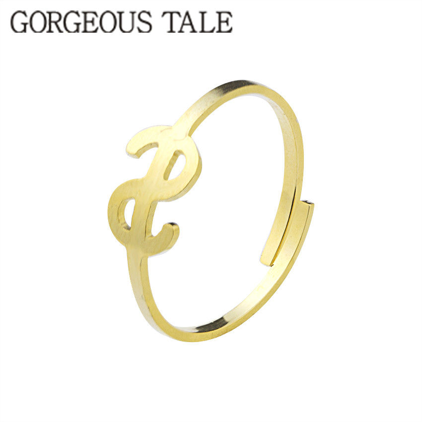 GORGEOUS TALE Anel Falange Bijoux Bague Stainless Steel Tiny Dollar Sign Ring Men Medusa Minimalist Jewelry Knuckle US Rings
