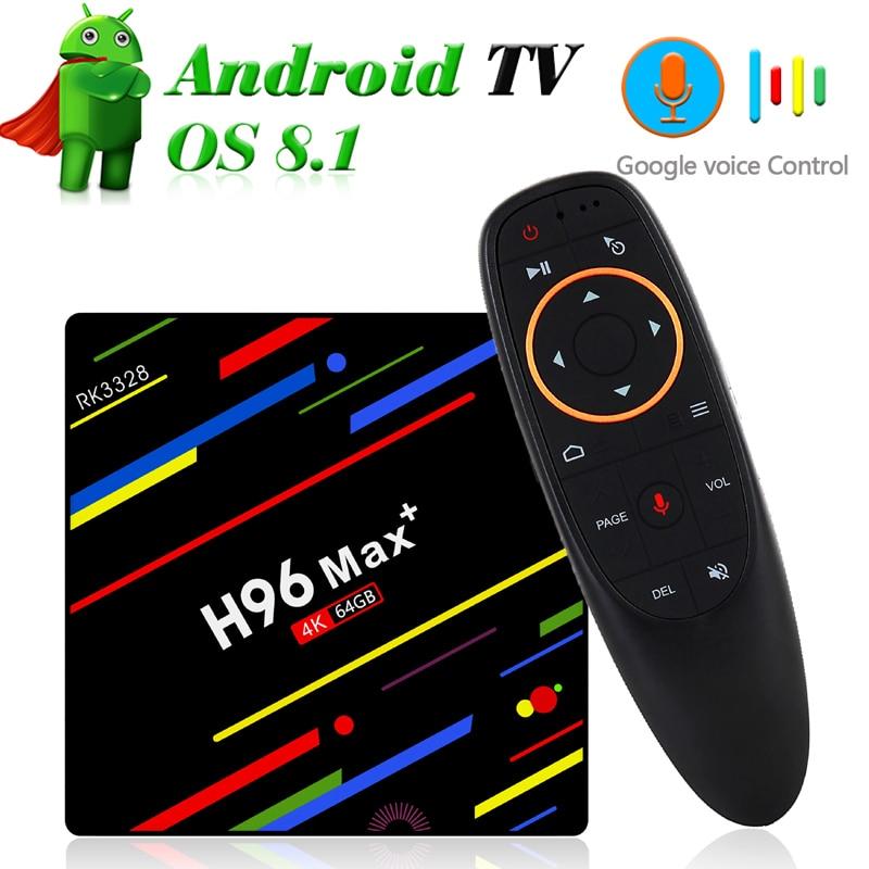 Dual Band Wifi TV Box with Google Voice Control 4GB 64GB RK3328 Quad Core 2.4G/5G Wifi Mini PC 4K Streaming Media Player TVbox rajfoo smart tv box windows 10 mini pc intel cherry z8300 quad core 4gb 64gb wifi bt4 0 2mp camera hd media player